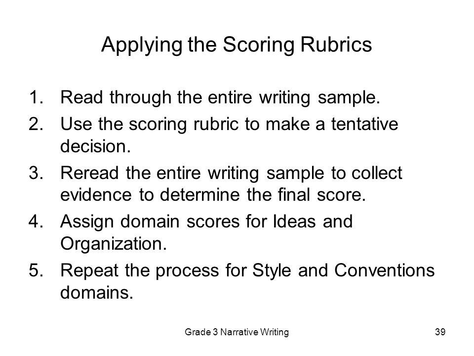 narrative writing assessment