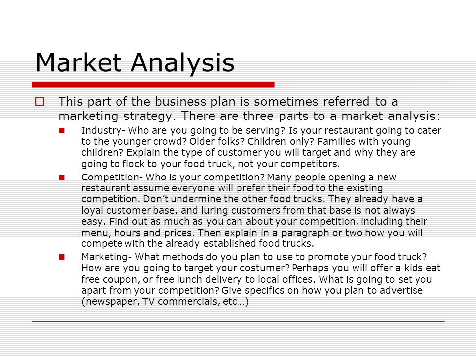 How to do market analysis for business plan
