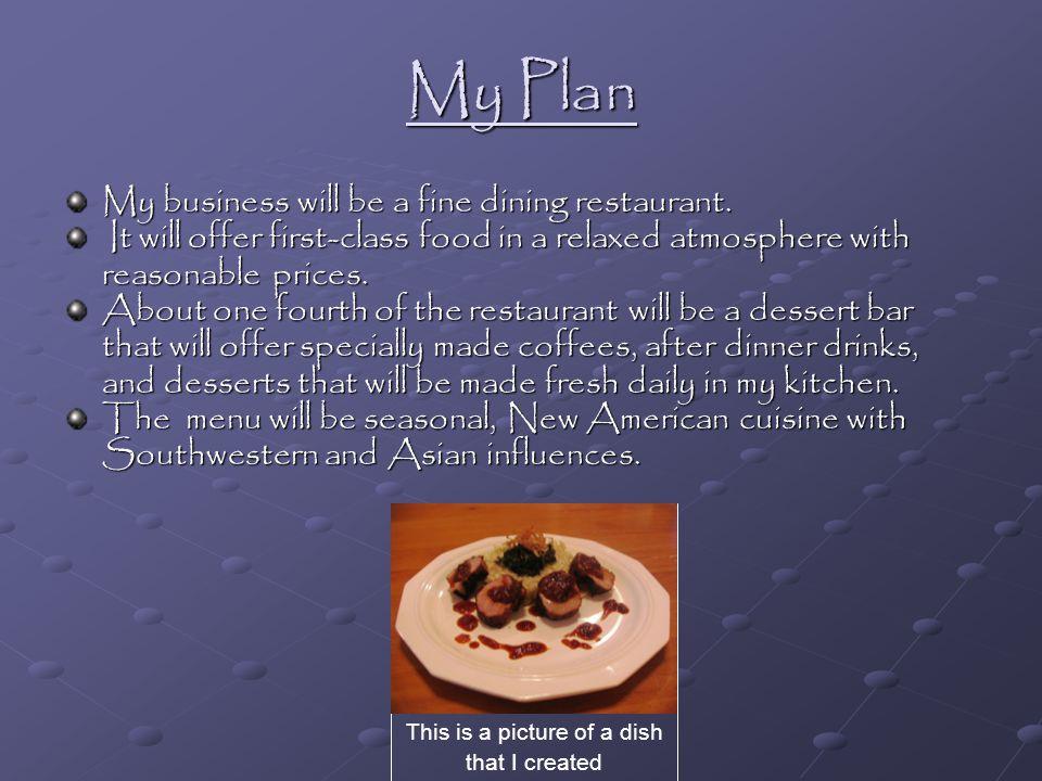 dessert bar business plan