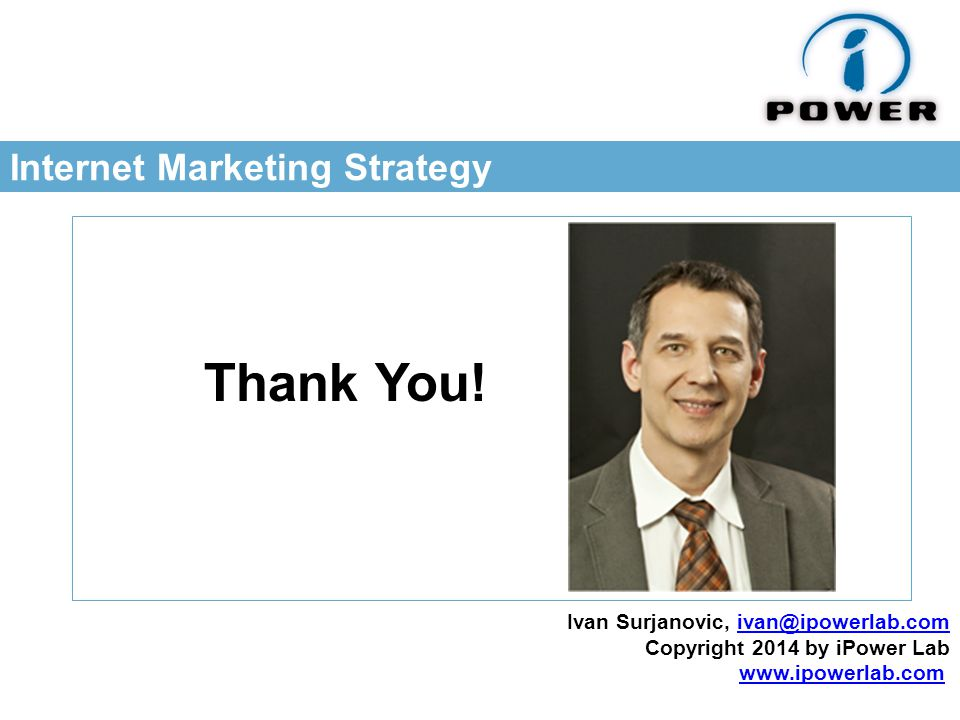Internet Marketing Strategy Thank You.
