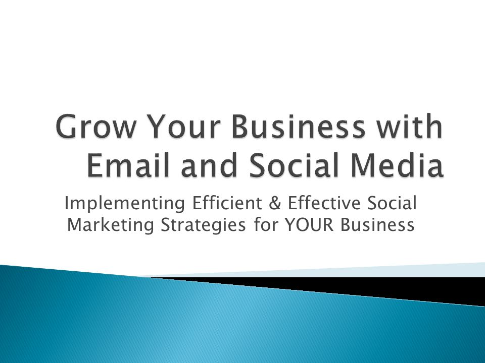 Implementing Efficient & Effective Social Marketing Strategies for YOUR Business