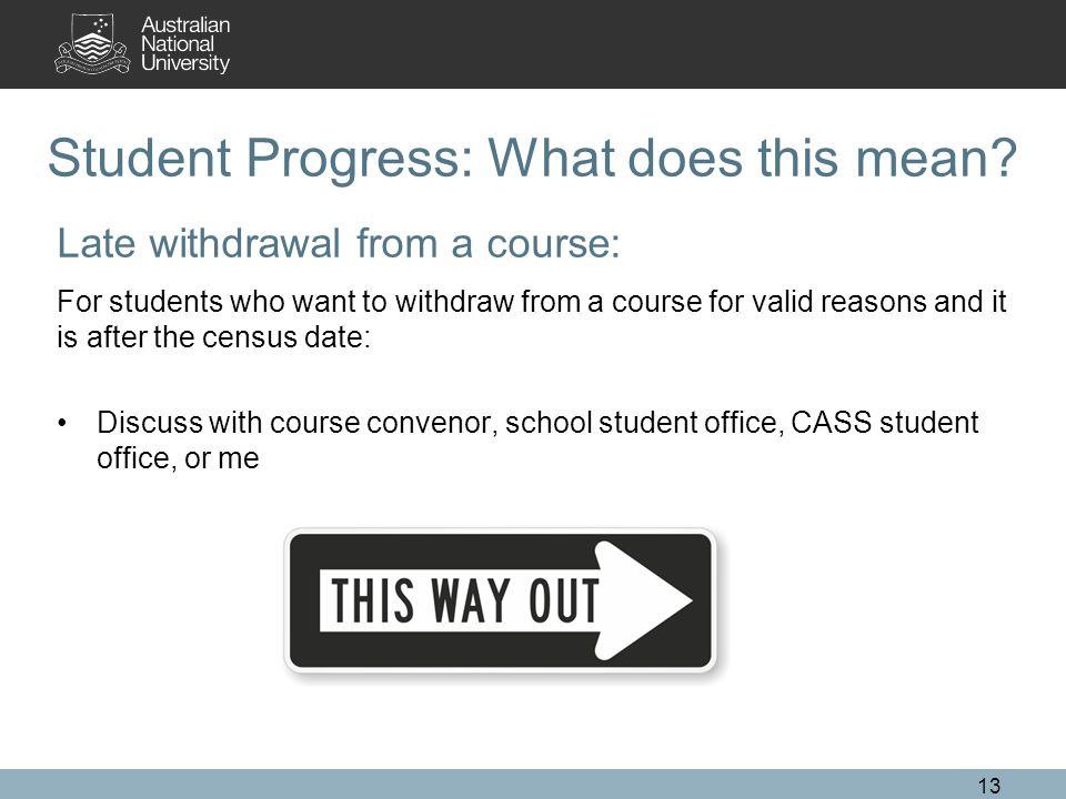 Student Progress: What does this mean.