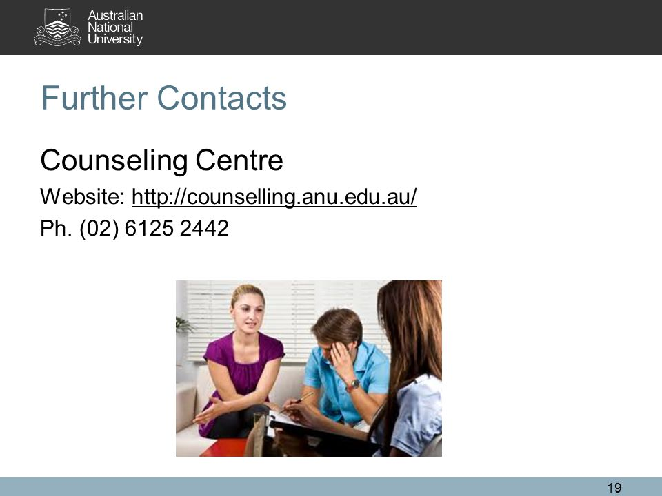 Further Contacts Counseling Centre Website:   Ph. (02)