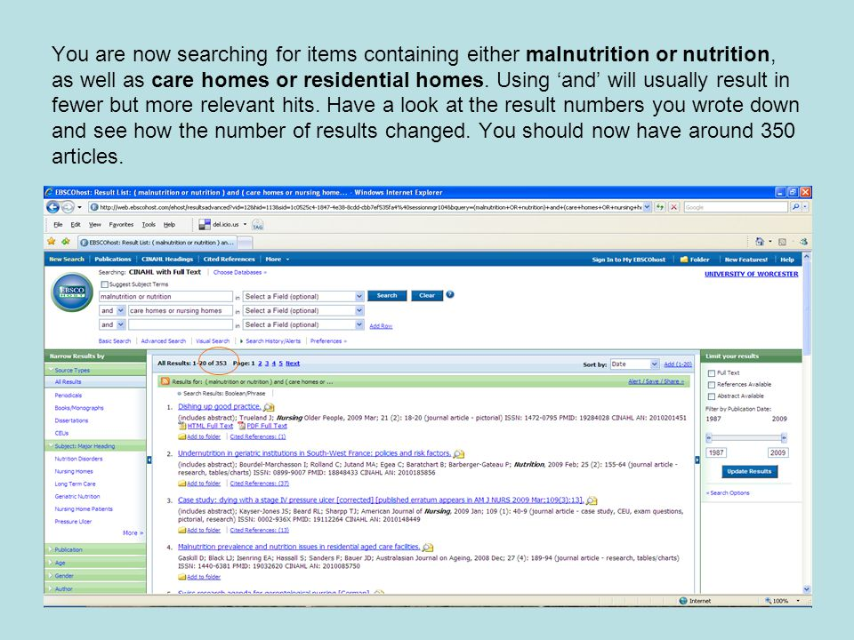 You are now searching for items containing either malnutrition or nutrition, as well as care homes or residential homes.