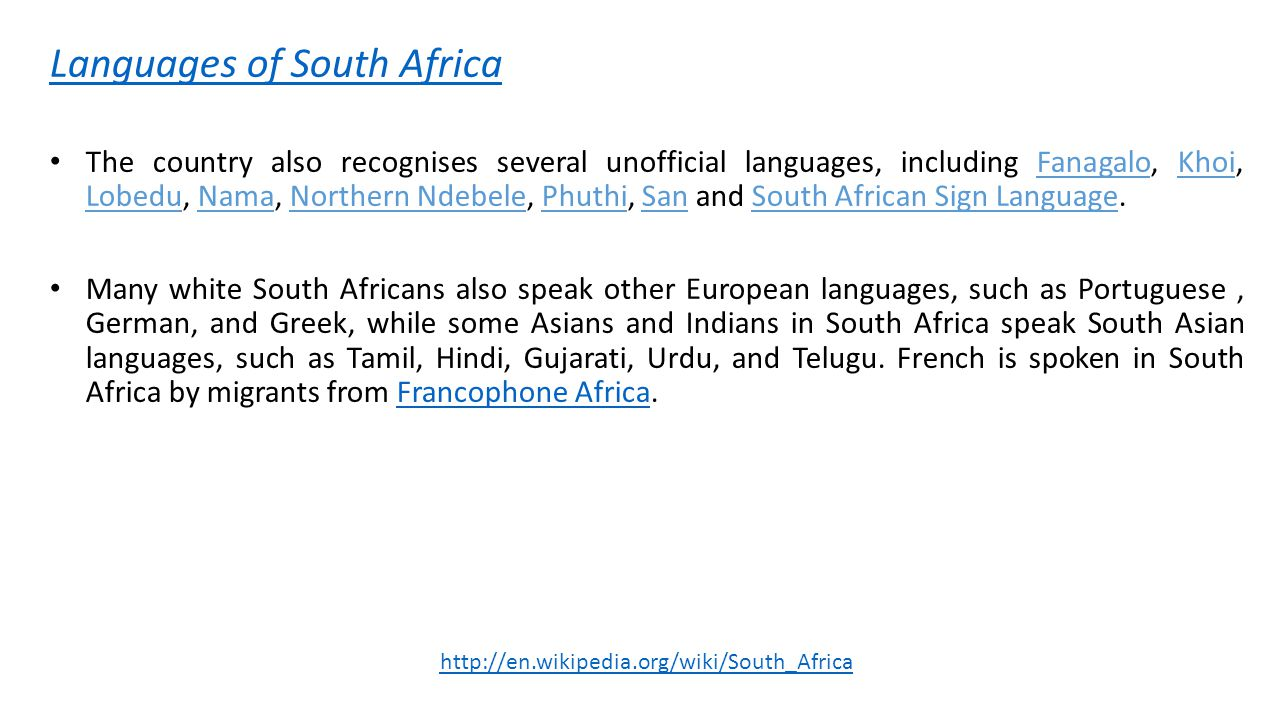 language planning in south africa