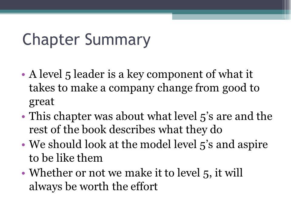 good to great summary