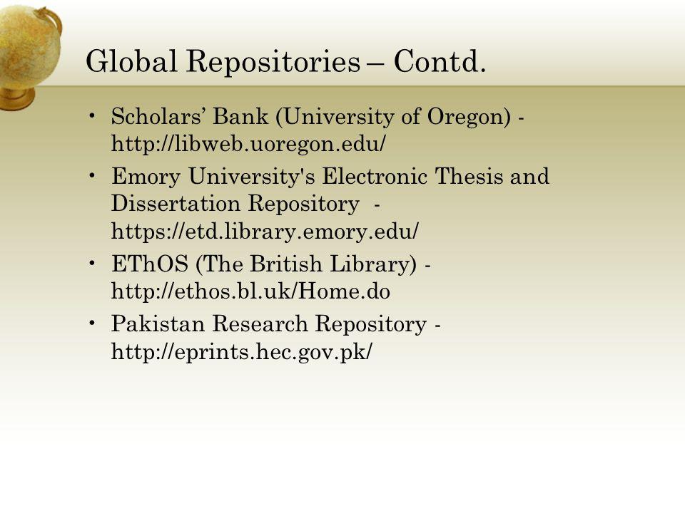 thesis repository pakistan