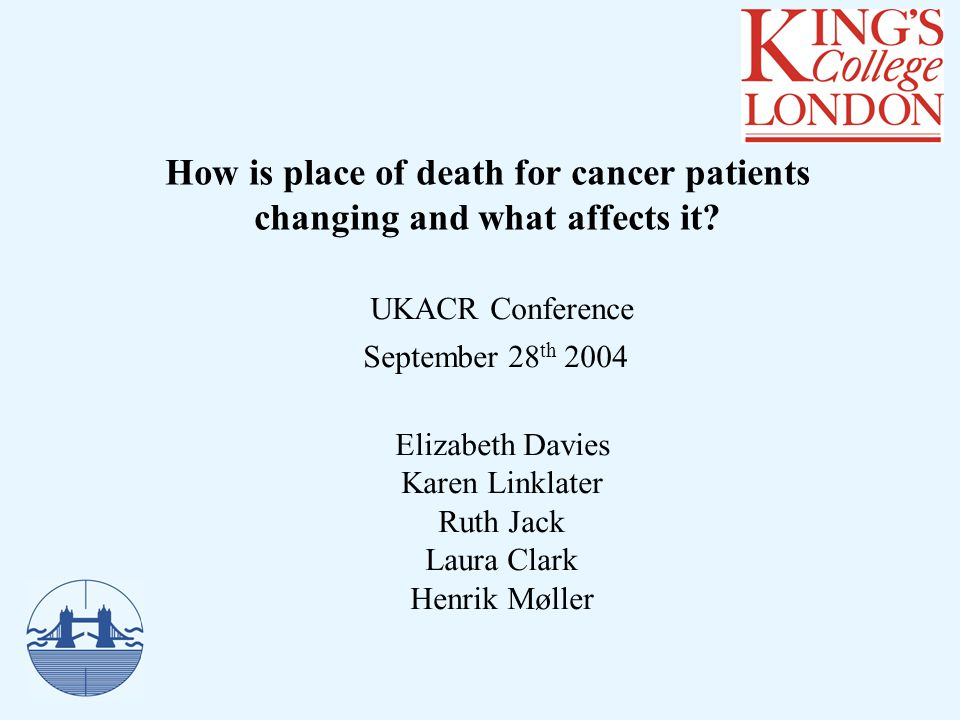How is place of death for cancer patients changing and what affects it.