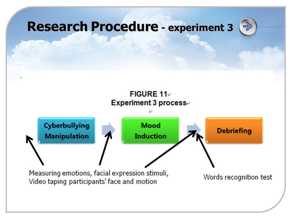 Research Procedure - experiment 3