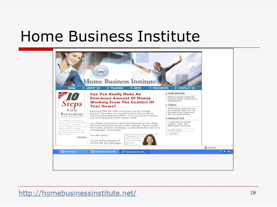 18 Home Business Institute