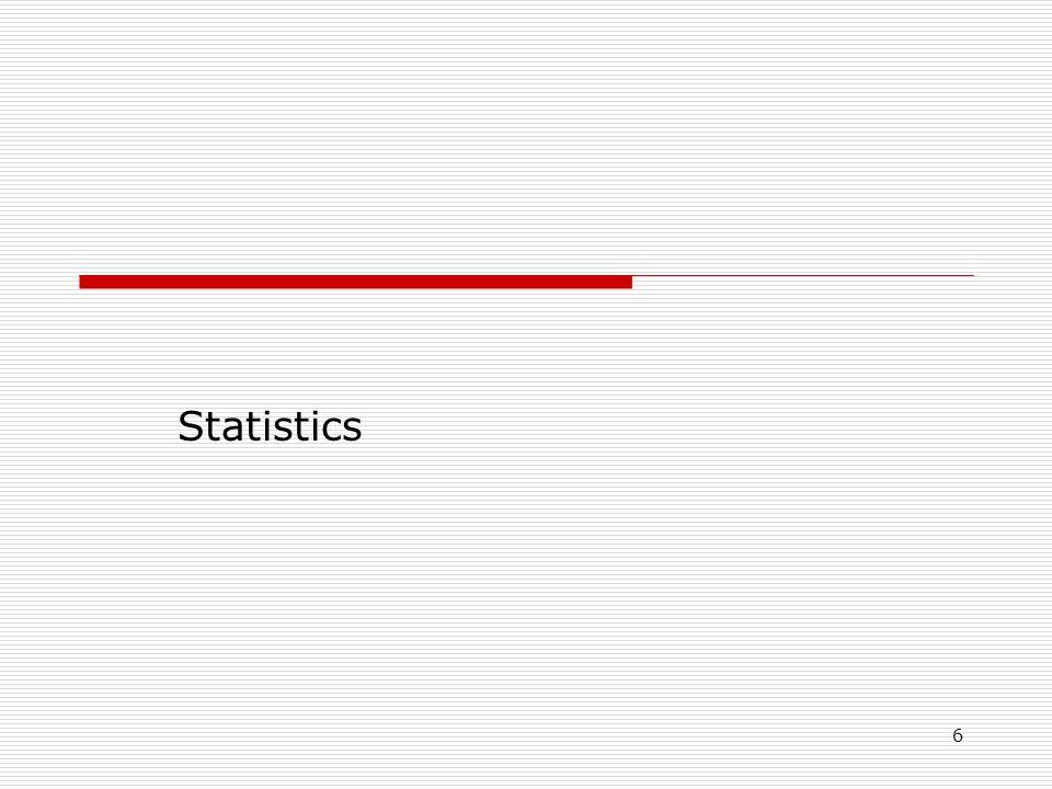 6 Statistics
