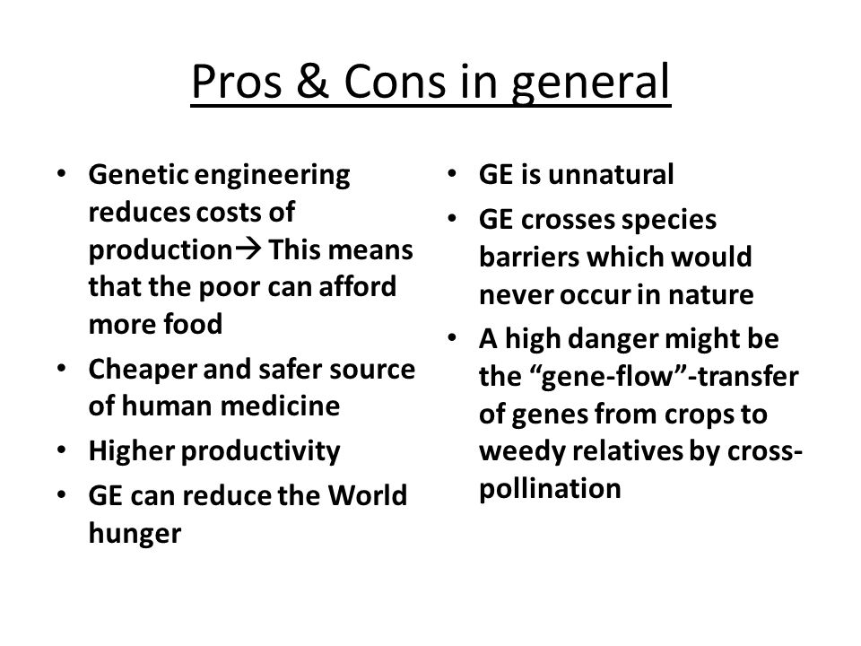 genetic engineering 5 essay What is a good genetic engineering thesis statement update cancel answer wiki 3 answers  the rest of the paper, the body of the essay, gathers and organizes evidence that will persuade the reader of the logic of your interpretation  is genetic engineering a good career option in india give 5 example of topic sentence with thesis.