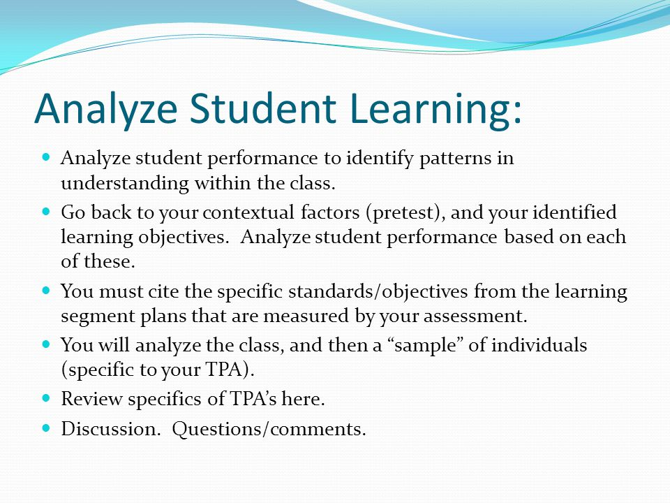 Analyze Student Learning: Analyze student performance to identify patterns in understanding within the class.