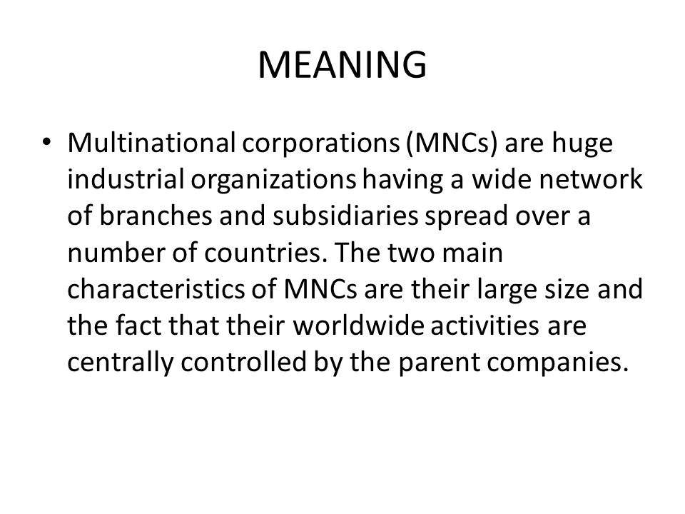 an analysis of multinational corporation mncs An assessment of the political risk management strategies by multinational corporations (mncs) operating in zimbabwe wilford mawanza, msc (mncs) in developing.