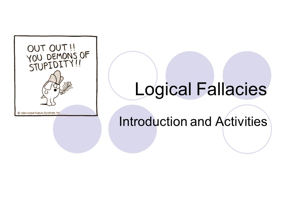 fallacy summary and application paper