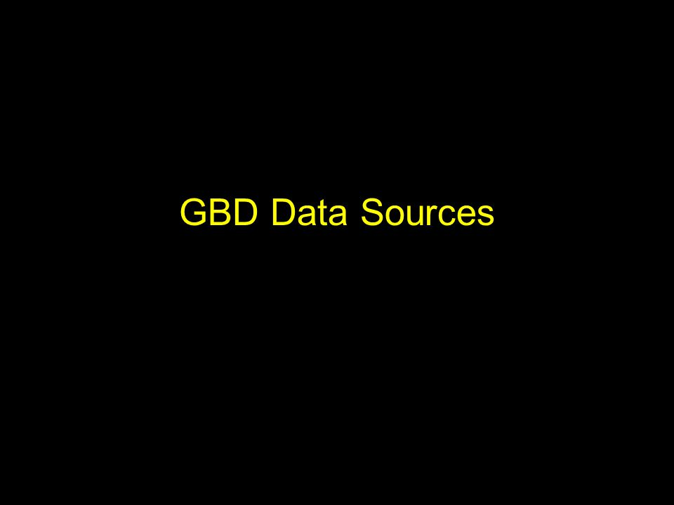 GBD Data Sources