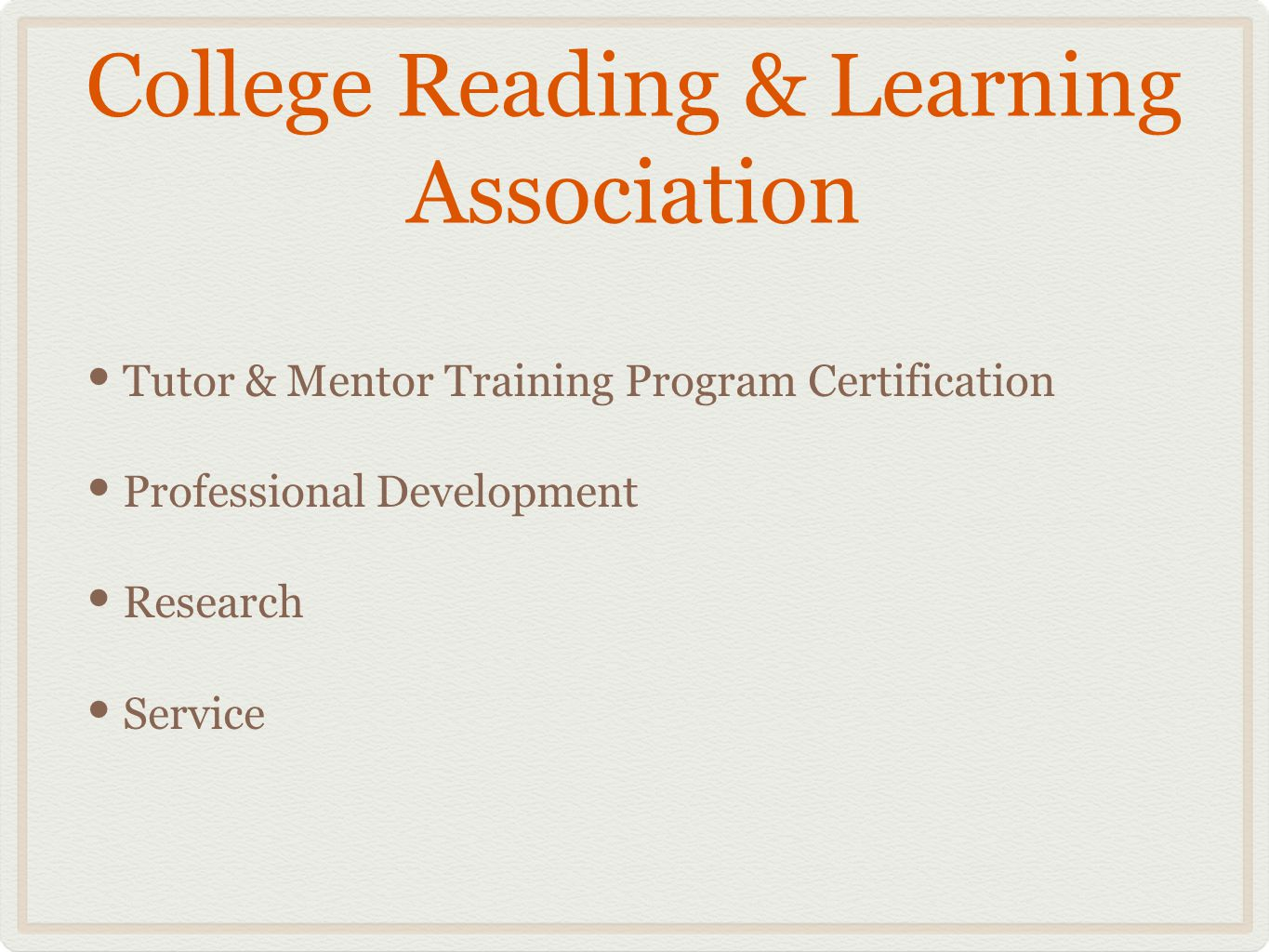 International mentor training program certification page keller 3 college reading learning association tutor mentor training program certification professional development research service 1betcityfo Gallery