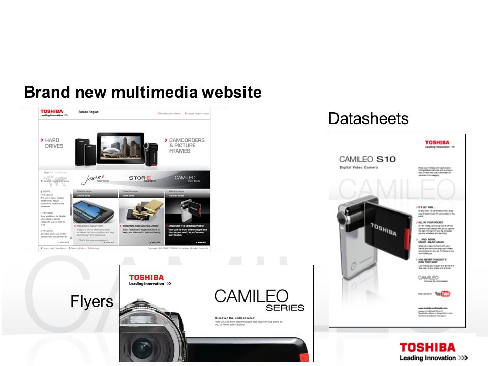 Brand new multimedia website Datasheets Flyers