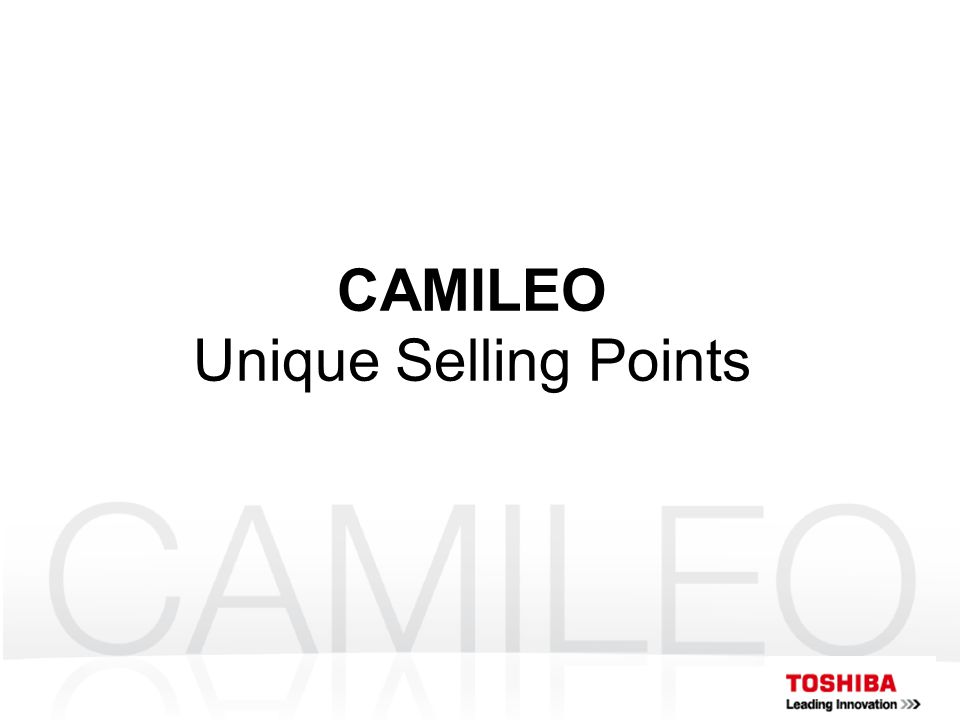 CAMILEO Unique Selling Points