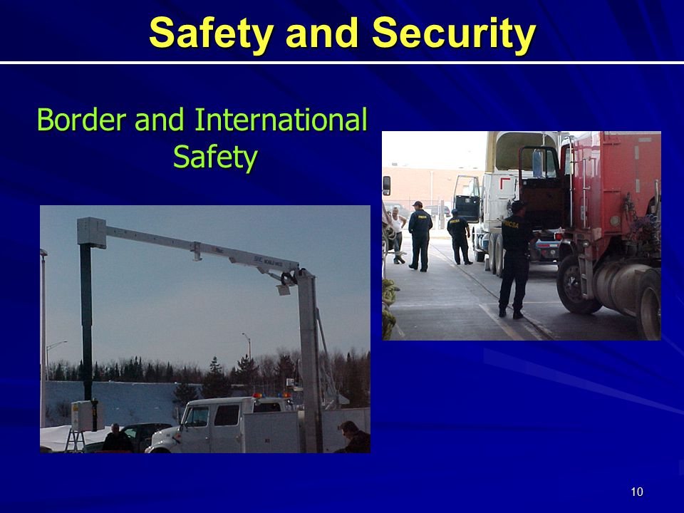 10 Safety and Security Border and International Safety
