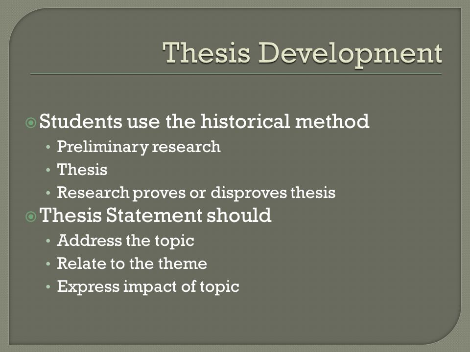 Historical thesis topics