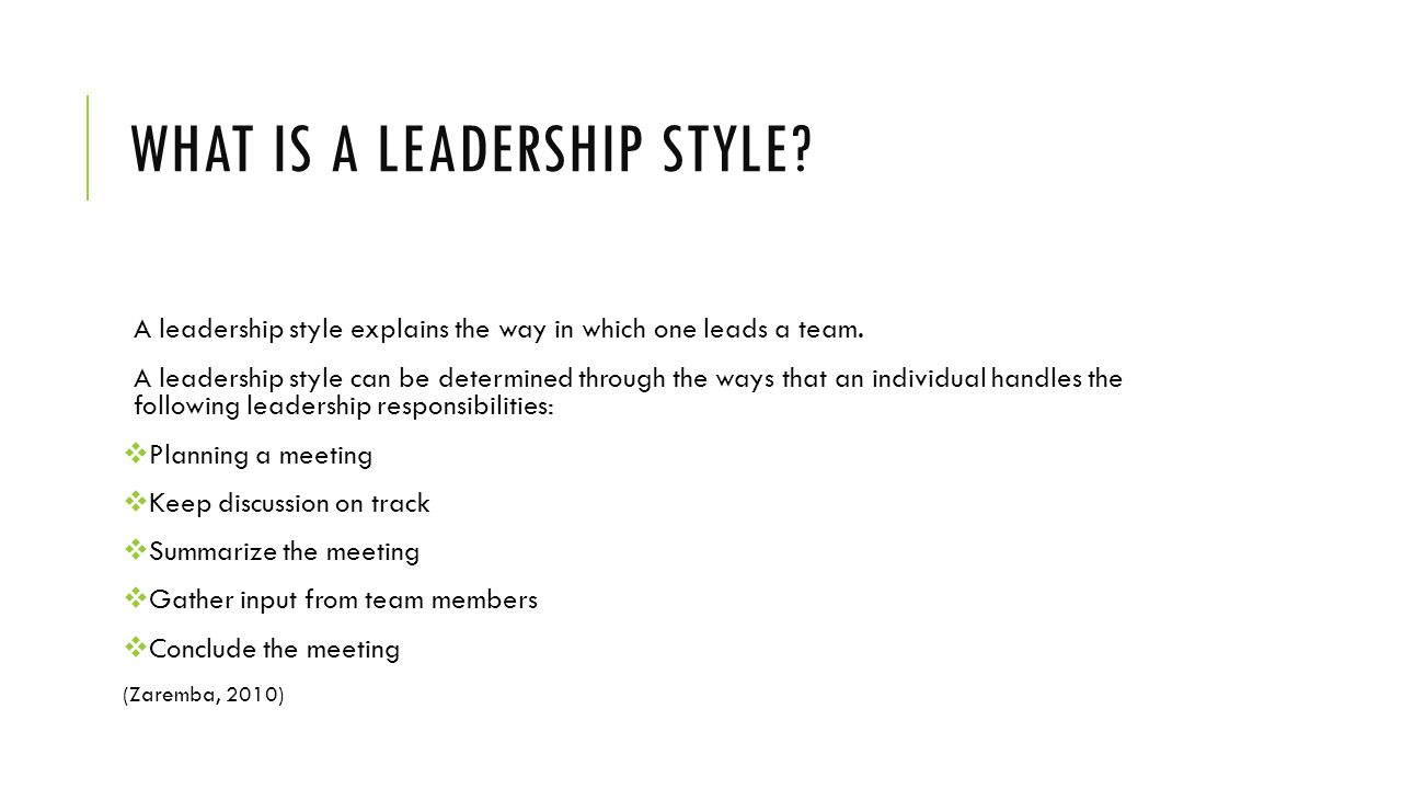 summary of my leadership style Effective leaders are flexible enough to adjust their leadership style and techniques to the 5 leadership styles for army leaders points summary statement top.