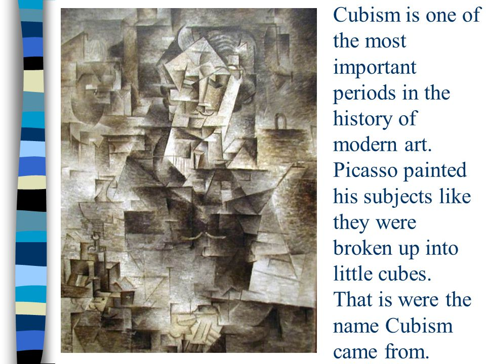 Cubism is one of the most important periods in the history of modern art.