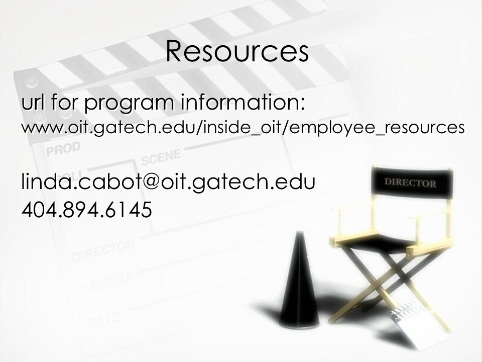 Resources url for program information: url for program information: