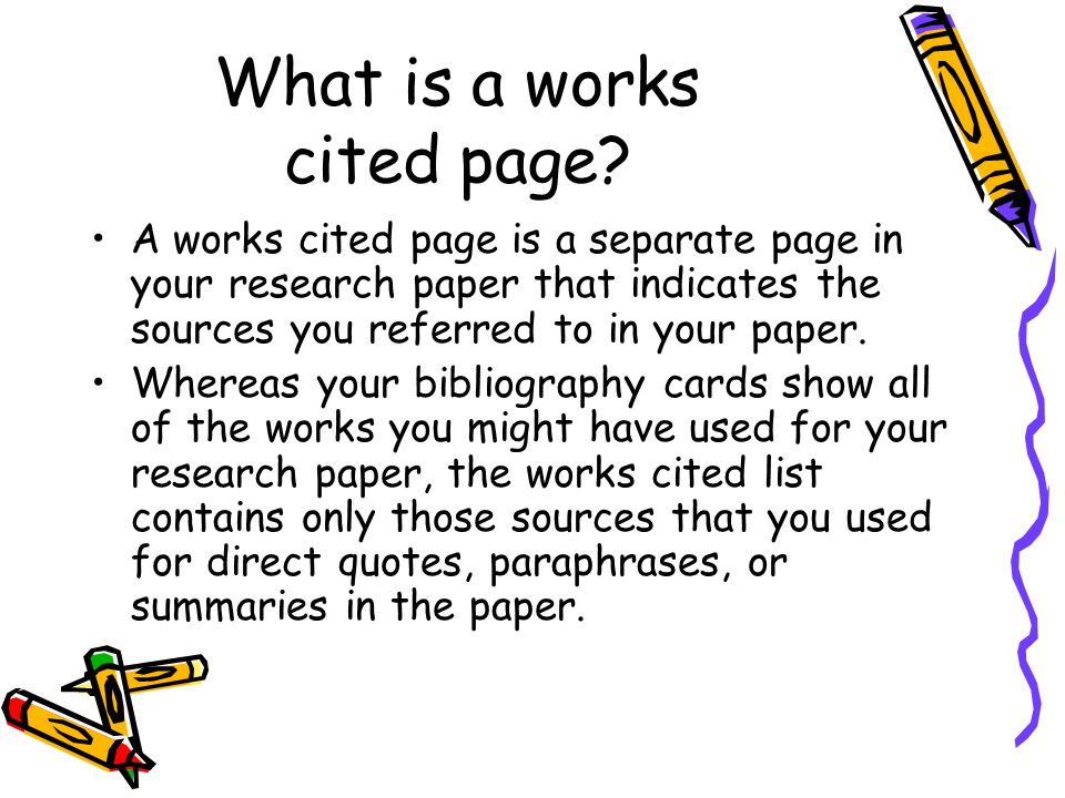 workd cited page