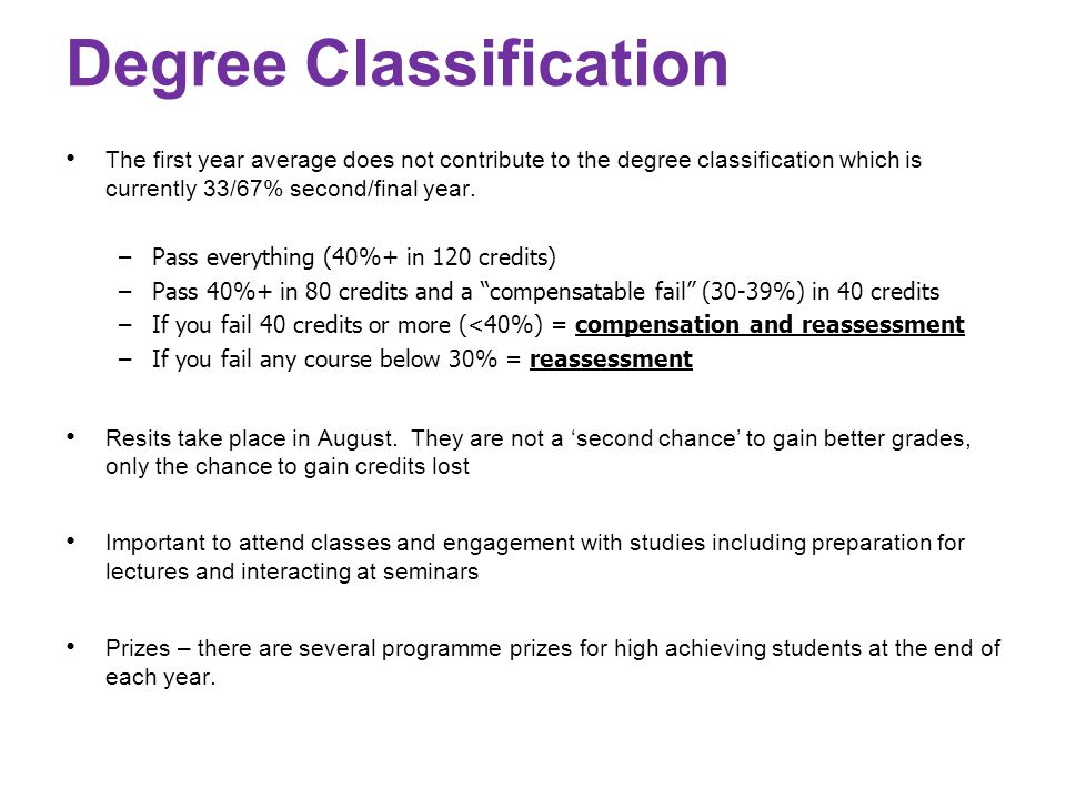 degree classification