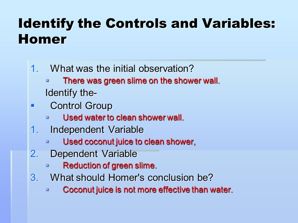 Scientific method review identifying variables worksheet answers