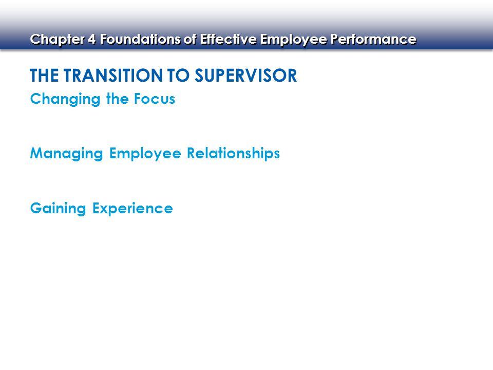 Chapter 4 Foundations of Effective Employee Performance EMPLOYEE MOTIVATION BASICS