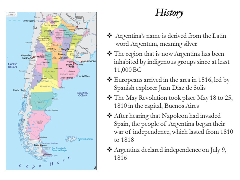 Argentinas Name Is Derived From The Latin Word Argentum Meaning - Argentina map meaning