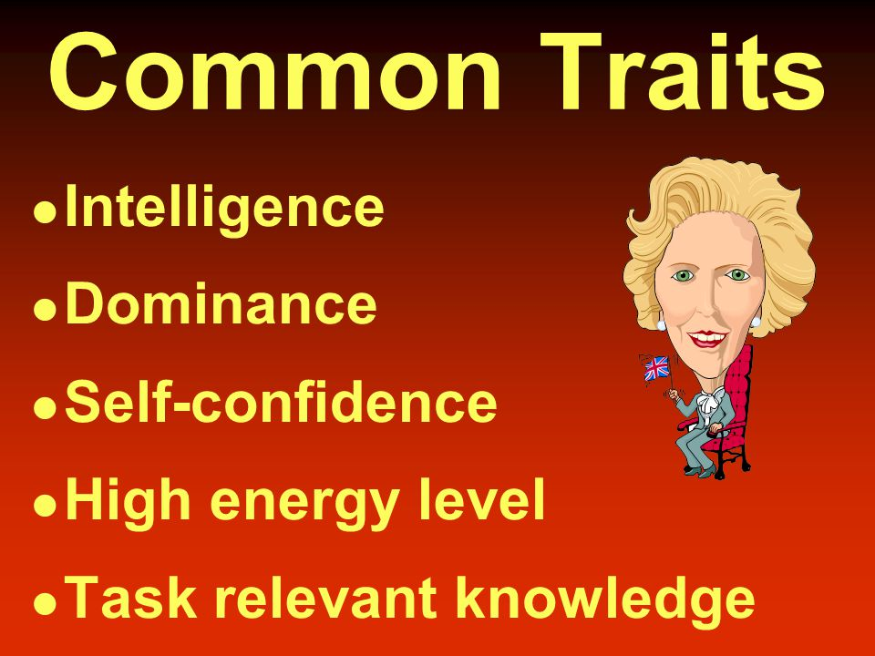Trait Theories People are born with certain characteristics which make them leaders.