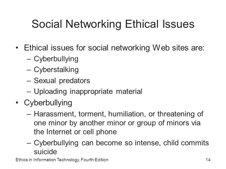 issues with social networks essay