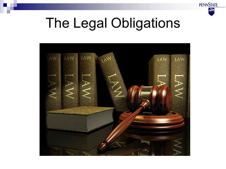 The Legal Obligations
