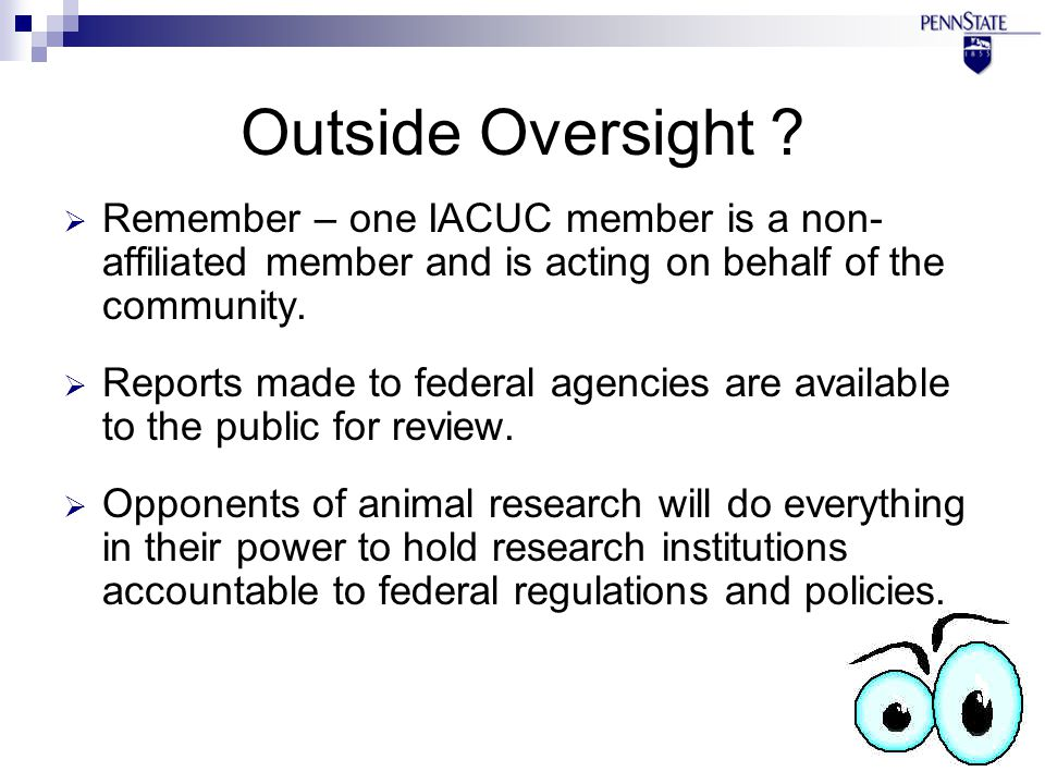 Outside Oversight .