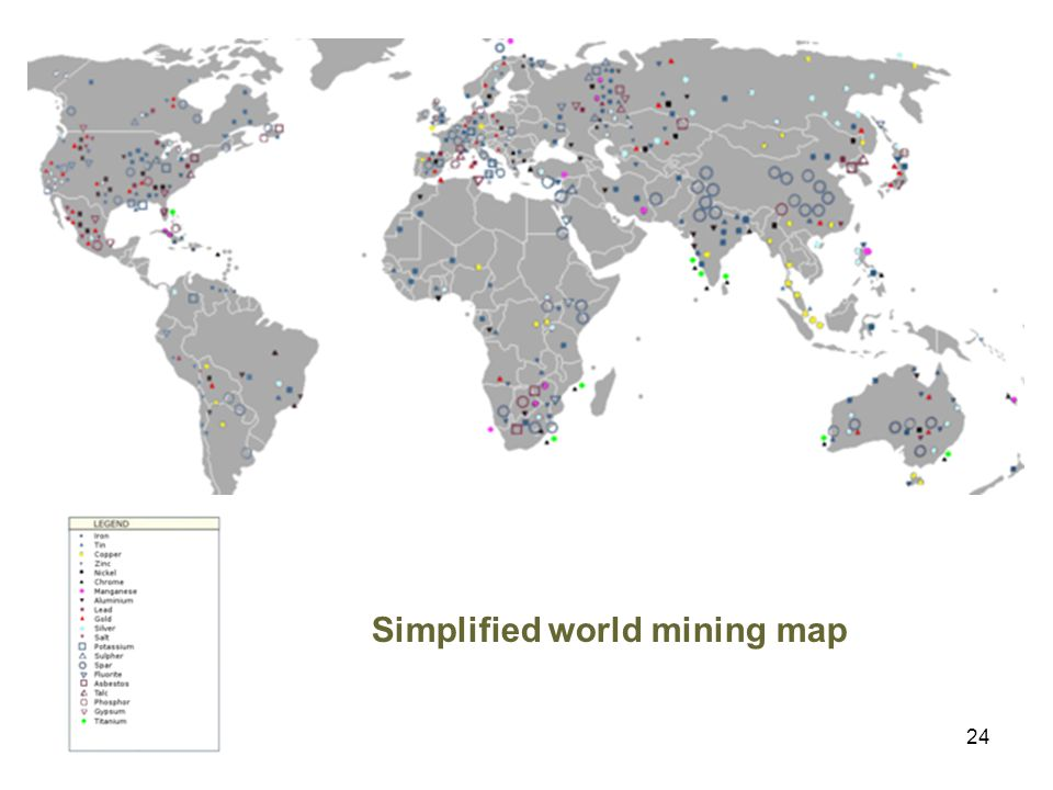 24 Simplified world mining map