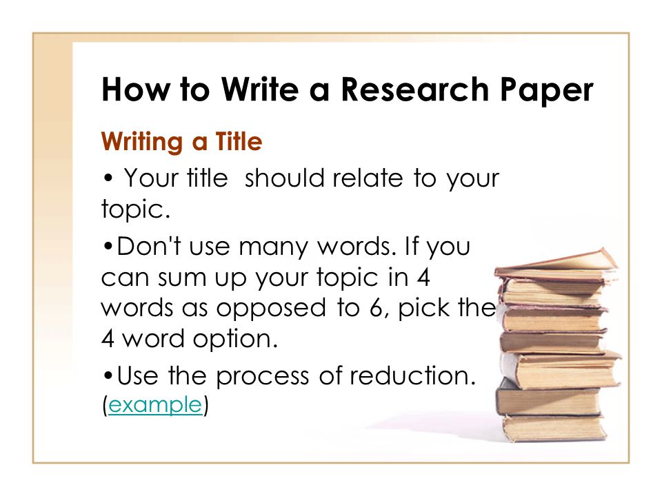 research paper how to write