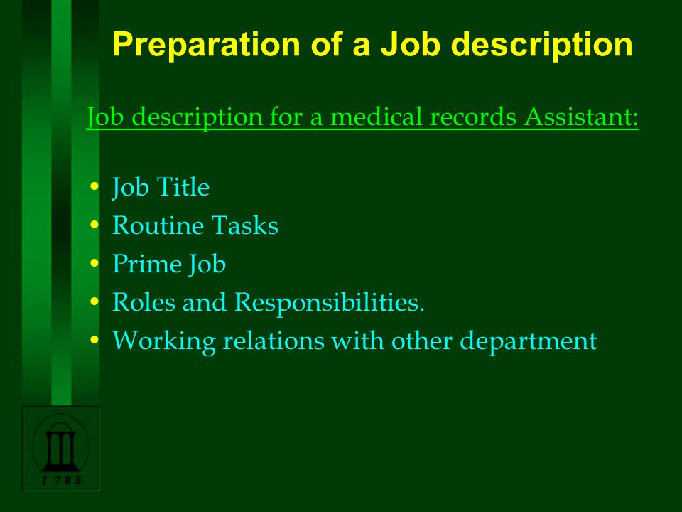 Medical Records Management In Eye Care Services 3.Planning Job