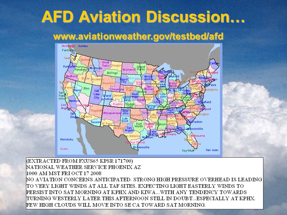 AFD Aviation Discussion…