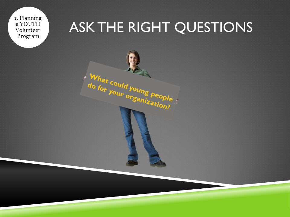 ASK THE RIGHT QUESTIONS 1.