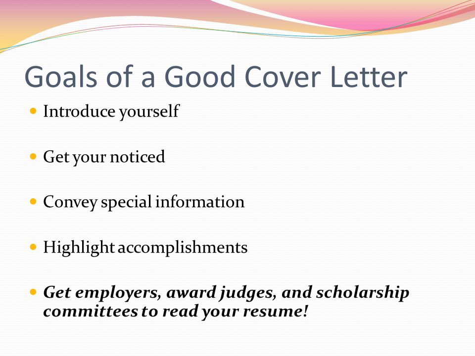 how to introduce yourself in a cover letter