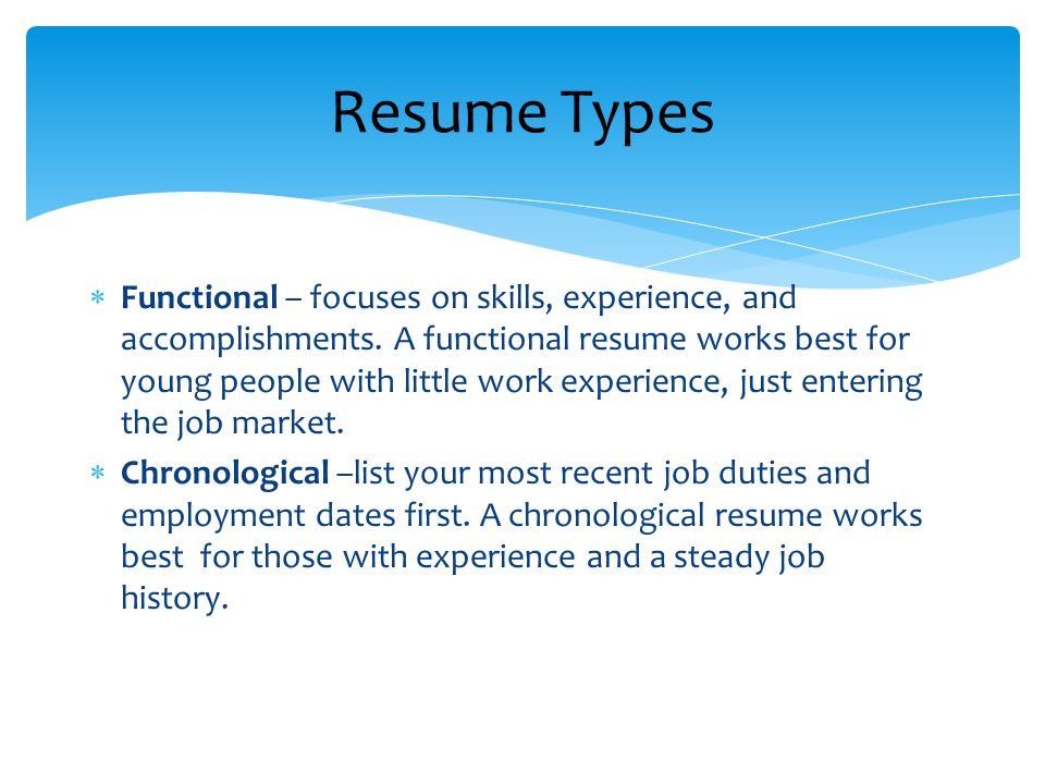 functional focuses on skills experience and accomplishments - How To List Accomplishments On Resume