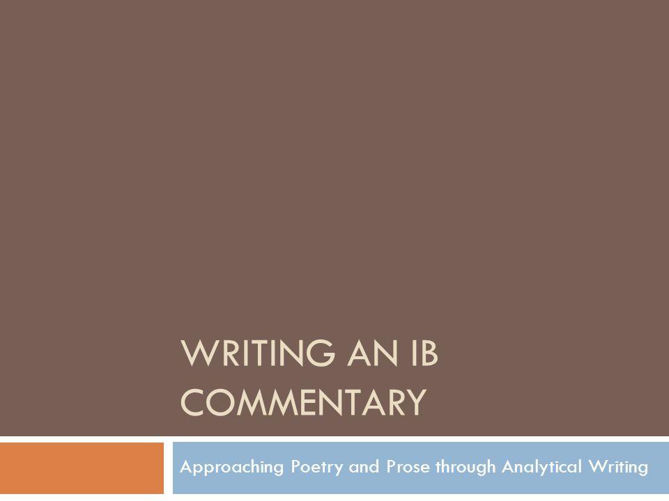 commentary essay ib
