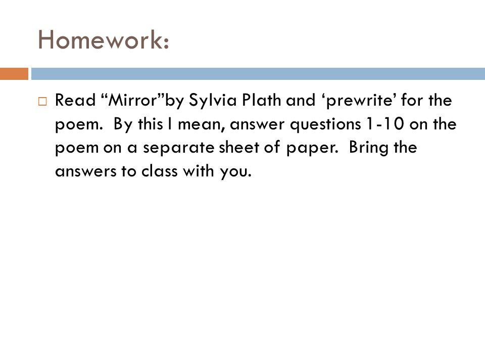essay writing university of worcester mirror plath  mirror plath