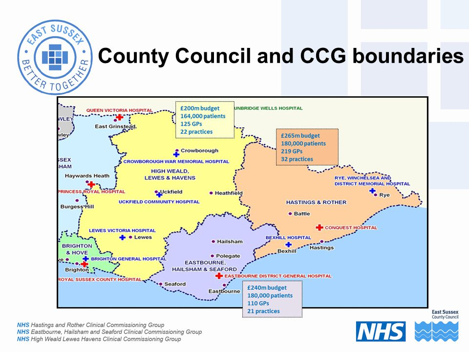 County Council and CCG boundaries