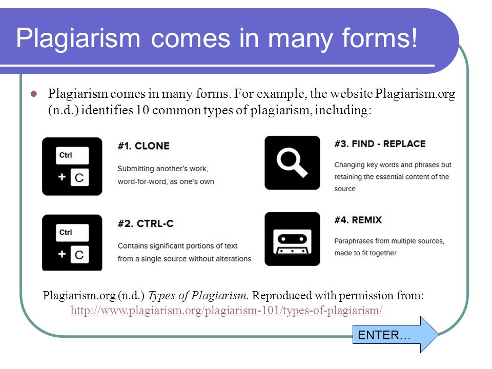 Plagarism websites