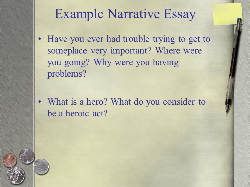 narrative essay on acting