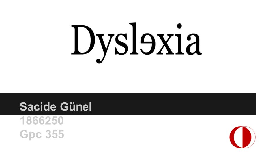 dyslexia outline